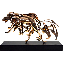 Arman - Gilded Panther - Sculpture