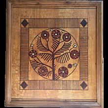 Art Nouveau ( Jugendstil ) wooden screen panel, Austro-Hungarian circa 1910-1920