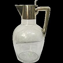 Art Deco silver wine jug circa 1910-1920