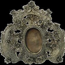 Russian silver photo frame , 1862 by Mikhail Szemjonovics Gubkin jeweller