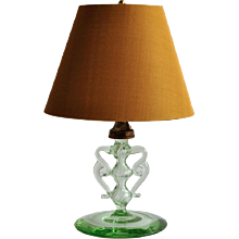 1920s Neo Classical Style Glass Table Lamp