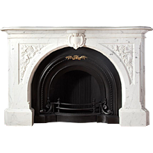 Carved Victorian Marble Fireplace