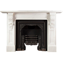 White Marble Fire Surround in the Victorian Taste