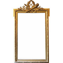 Antique French Gold Gilt Overmantel Mirror