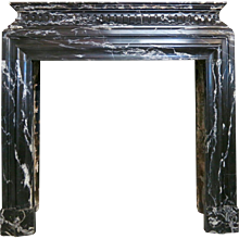 A French Bolection De Versailles Marble Fireplace