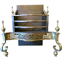 A Brass and Steel 19th century Fire Grate