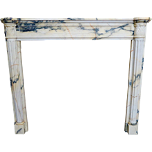 Antique Louis XVI French Marble Fireplace