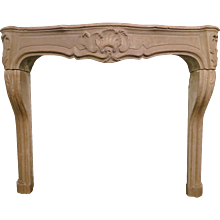 Late 18th century French Stone fireplace