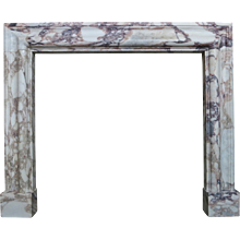 Breche Violette Marble  Bolection Fireplace Mantel