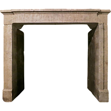 Antique French Stone Chimneypiece Fireplace