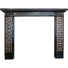 19th century Greek Revival Kilkenny Marble Fireplace