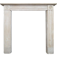 Early 19th century Regency  Bathstone Fireplace