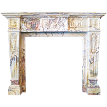 An Antique Sarrancolin Marble French Fireplace