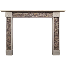 19th Century Regency Marble Fireplace Mantel