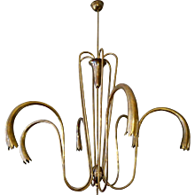 A Large Brass Italian 1950's Chandelier