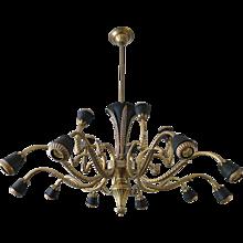A Mi Century Brass Italian Chandelier