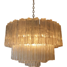 A Large Murano Tronchi Chandelier