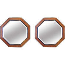 A Pair Of Monumental Octagonal Mirrors