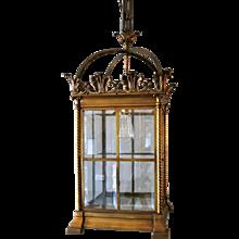 Antique Brass 19th century  Lantern