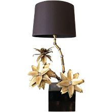 French Brass palm Lamp