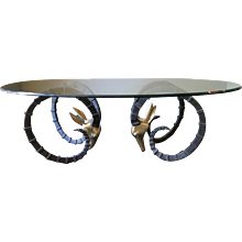 """French """"Ibex"""" Cocktail Table by Alain Chervet"""