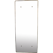 Large Italian Brass Framed Mirror