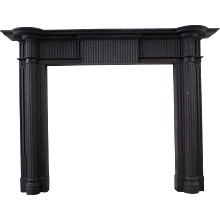 Irish 19th Century Palladian Style Welsh Slate Fireplace Mantle