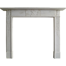 A George III Statuary White Marble Fireplace Marble