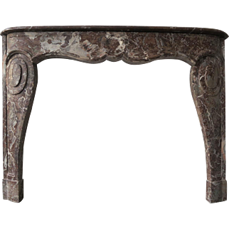 18th Century Louis XV Style Marble Fireplace Mantel
