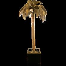Tall Maison Jansen Palm Floor Lamp