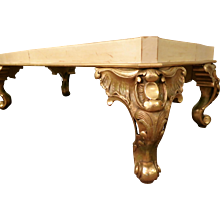 Maison Jansen Parchment and Gold Gilt Table