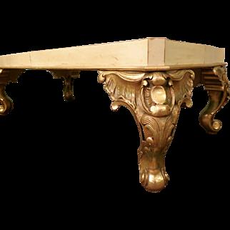 Maison Jansen Parchment and Gold Gilt Table
