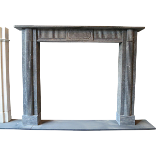 Late 18th Century Irish Grey Marble Fireplace Mantle