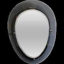 Italian Blue Glass Boarder Mirror
