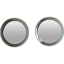 A pair of Circular Mirrors By Cristal Arte