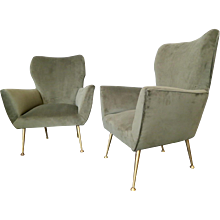 A Pair Of Midcentury Italian Armchairs