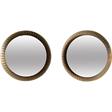 A Large Pair Of Circular Stilnovo Mirrors
