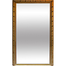 A Tall French Gold Gilt Overmantel Mirror