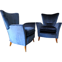 A Pair of Italian 1950's Armchairs