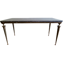 Italian Bronze and Marble cocktail table