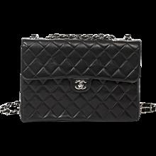 Chanel Jumbo Black Leather