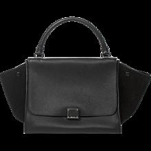Céline Trapeze Black Grained leather
