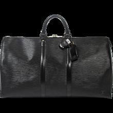 Louis Vuitton Keepall 50 Black Epi