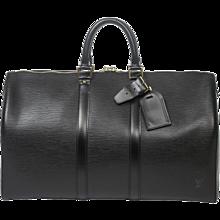 Louis Vuitton Keepall 45 Black Epi