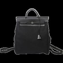 Hermès Herbag 2 in 1 PM Black Canvas