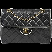 Chanel Vintage Flap 24cm Black