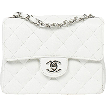 Chanel Mini classic flap white