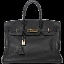 Hermès Birkin 35 Black Taurillon