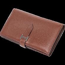 Hermès Bearn Soufflet Sienne Epsom Leather