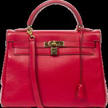 Hermès Kelly 32 Red Gulliver